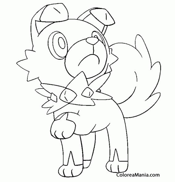 Colorear Rockruff Pokémon Sol Y Luna 2 Pokemon Dibujo Para