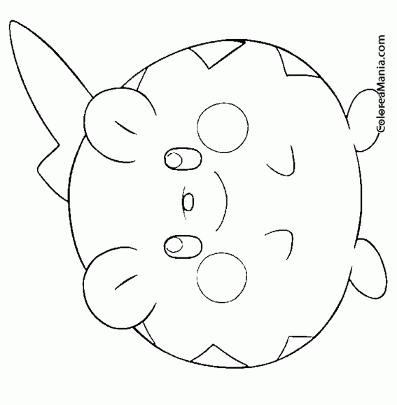 Colorear Togedemaru Pokémon Sol y Luna 2 (Pokemon), dibujo para ...
