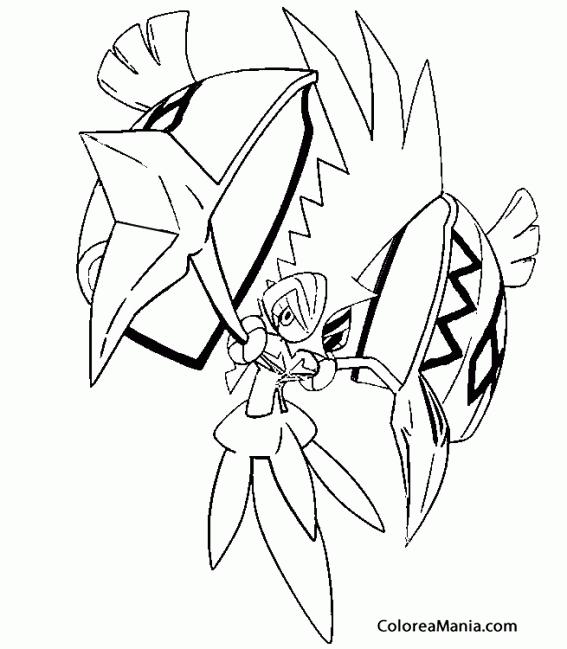 Colorear Tapu Koko Pokémon Sol Y Luna 2 Pokemon Dibujo Para