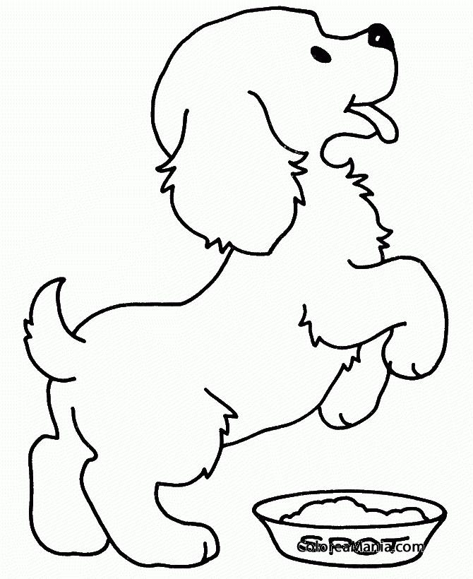 Colorear Cachorro (Animales Domésticos), dibujo para colorear gratis