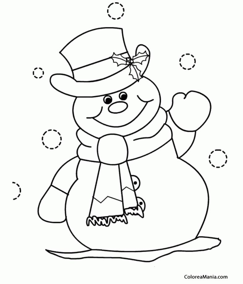 Colorear Muñeco De Nieve Para Colorear 7 Navidad Dibujo