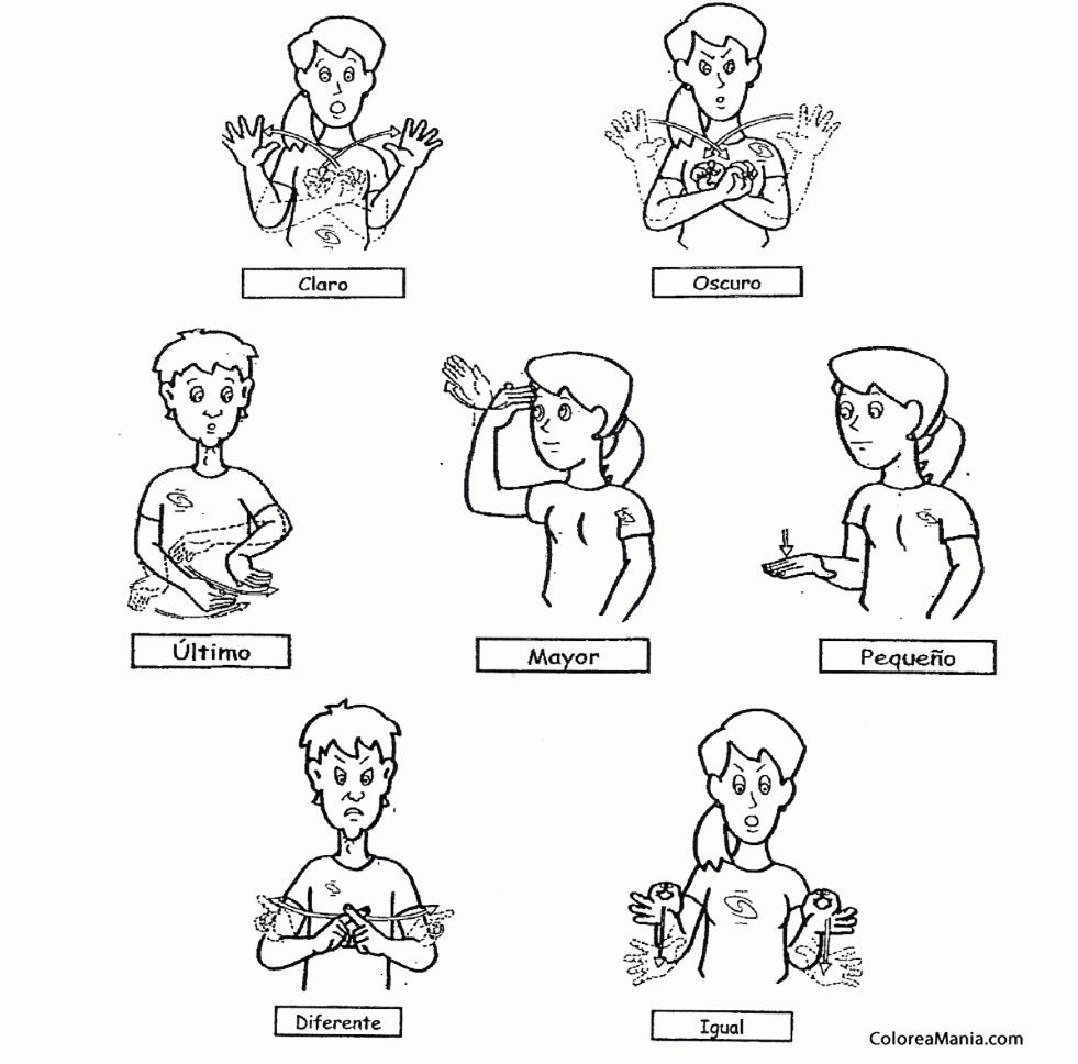 Colorear Opiniones en Lenguaje de señas (Expresión y Lenguaje ...