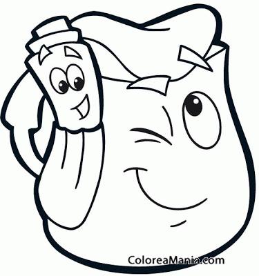 Colorear Mochila de Dora la exploradora Dora la exploradora