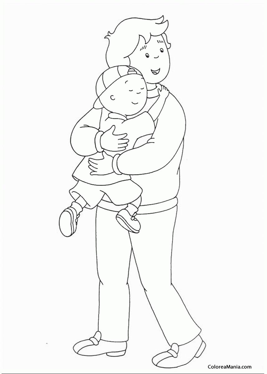 Caillou Dibujos Para Colorear. Perfect Colorear Caillou Y Su Pap ...