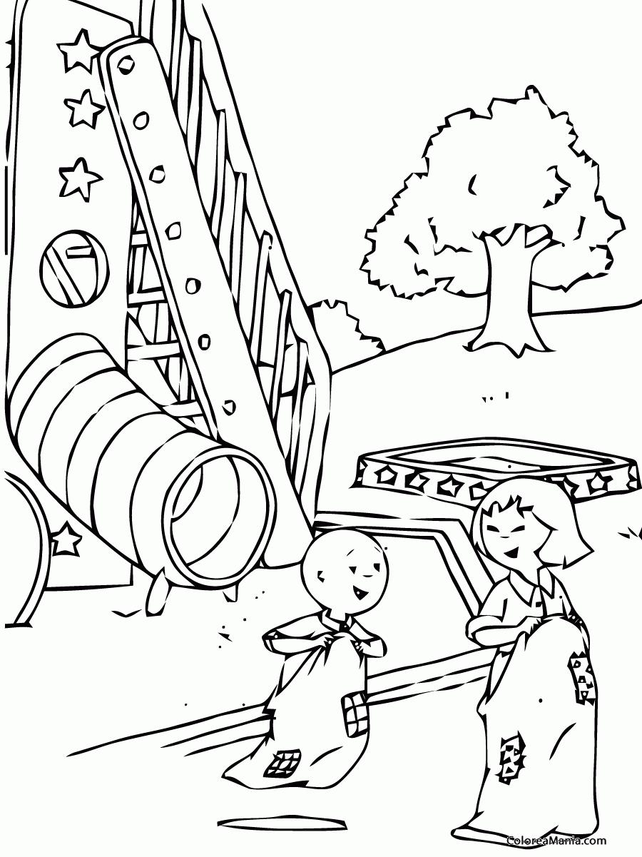 Dibujos De Parques Para Colorear. Dibujo De Perritos Jugando En El ...