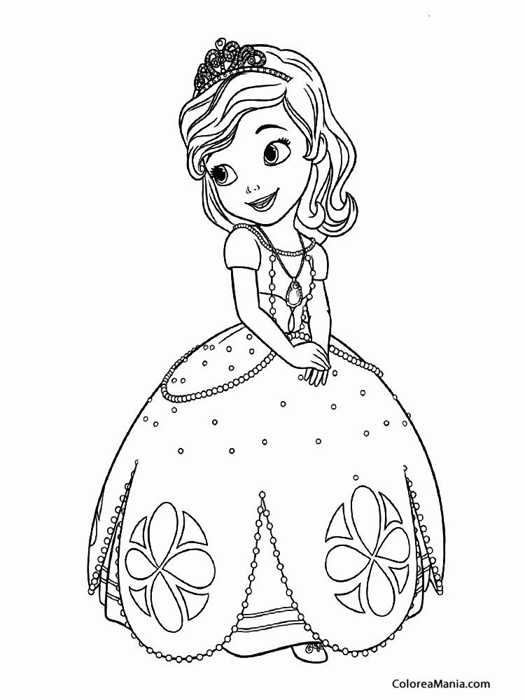 Colorear Princesa Sofía 3 La Princesa Sofía Dibujo Para
