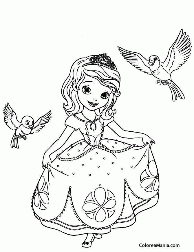 Colorear La Princesa Sofia La Princesa Sofia Dibujo Para
