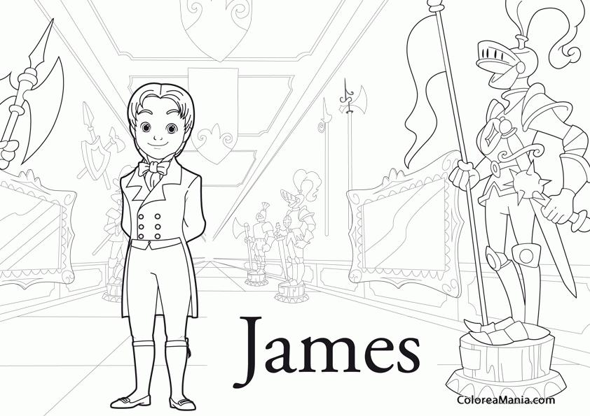 Dibujos De Principes Y Princesas Para Colorear: Colorear Príncipe James 3 (La Princesa Sofía), Dibujo Para