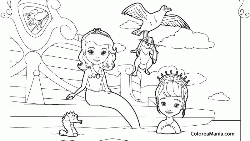 Colorear La Princesa Sofía 2 (La Princesa Sofía), Dibujo