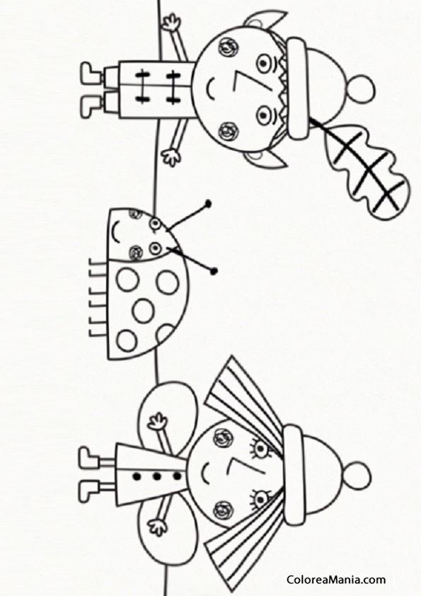 Colorear Ben y Holly 2 (Ben y Holly), dibujo para colorear gratis
