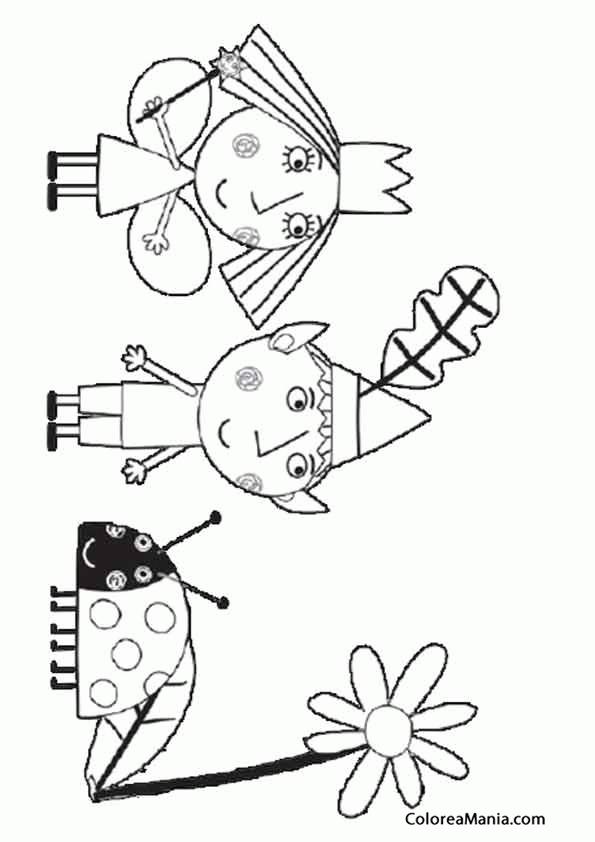Colorear Ben Y Holly Con Su Mascota Ben Y Holly Dibujo Para
