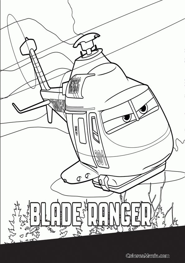 Colorear Blade Ranger 2 (Aviones), dibujo para colorear gratis