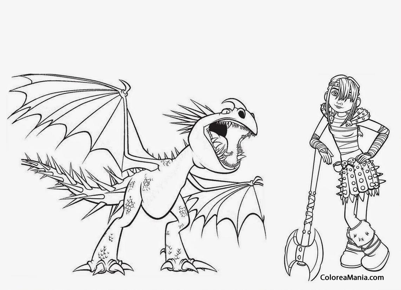 Dorable Gratis Cómo Entrenar A Tu Dragón Para Colorear Modelo ...