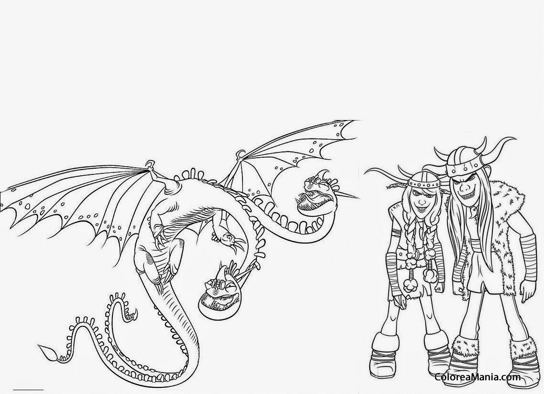Encantador Para Colorear Cómo Entrenar A Tu Dragón Ideas - Dibujos ...