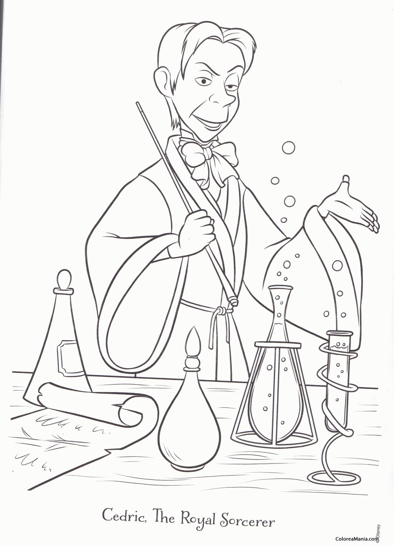 Colorear Cedric (La Princesa Sofía), dibujo para colorear gratis