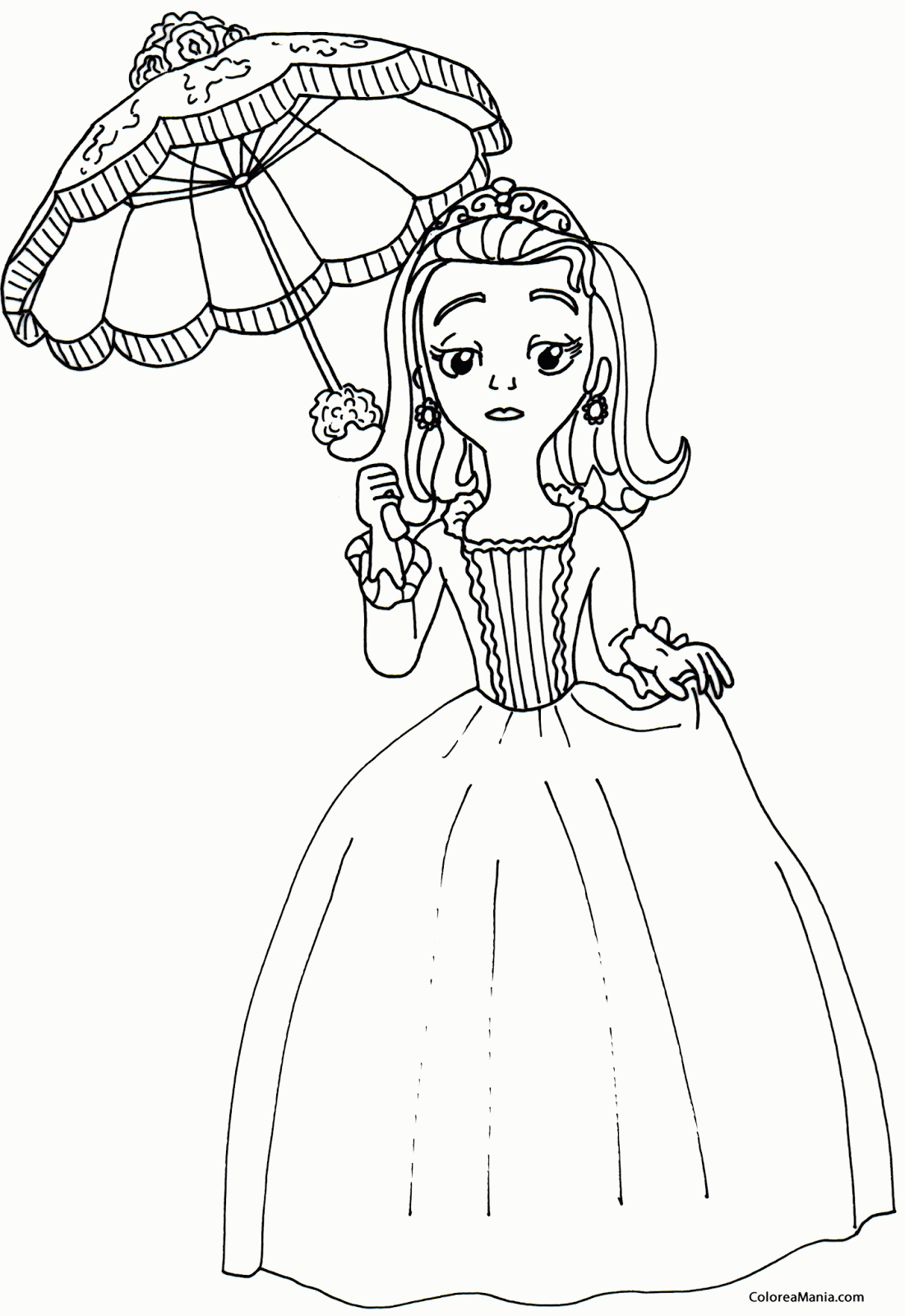 Elena Princess Coloring Pages Of Avalor Sketch Coloring Page