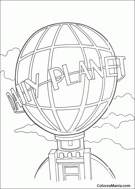 Colorear Símbolo Del Daily Planet Superman Dibujo Para Colorear