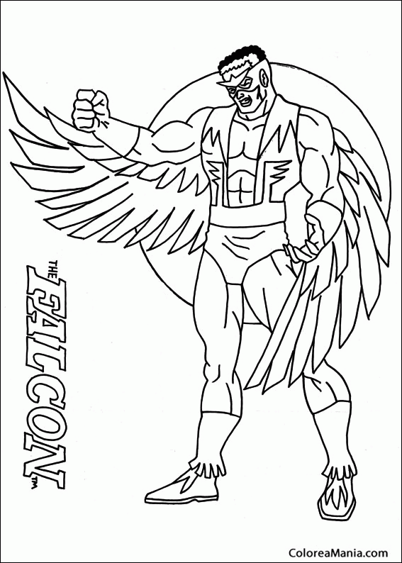 Colorear falcon capit n am rica dibujo para colorear gratis - Dibujos para pintar en tejas ...