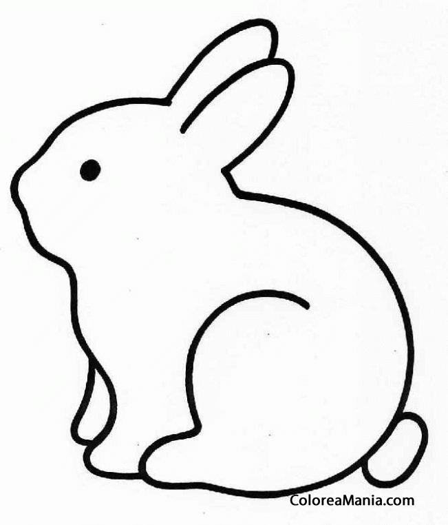 Colorear conejo silueta animales de granja dibujo para for Como hacer una granja de peces
