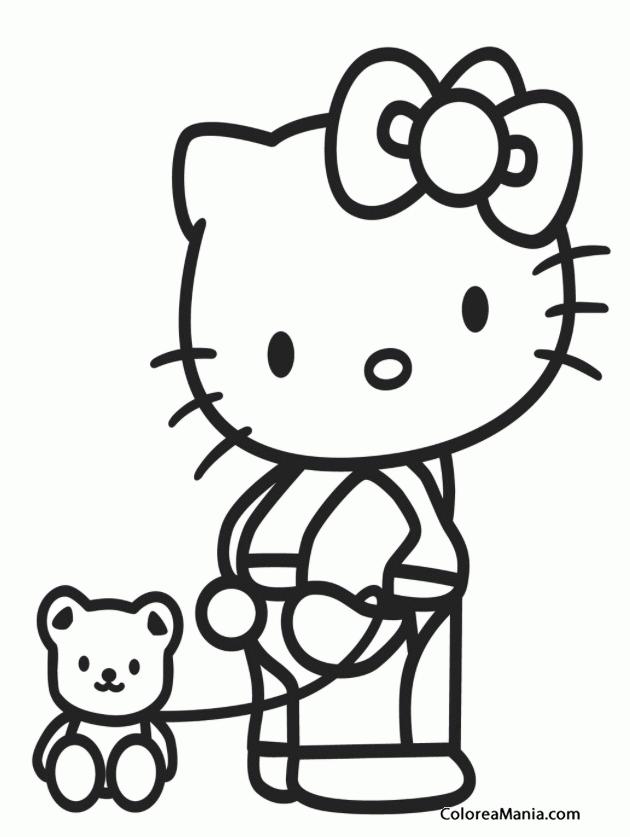 Perfecto Dibujos Para Colorear Gratis Kitty Inspiración - Dibujos ...