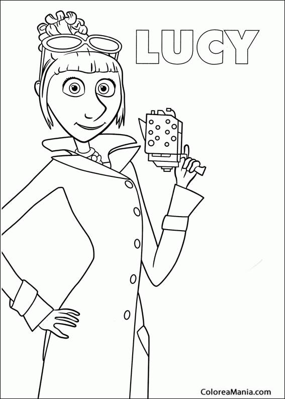 Colorear Lucy (Minions), dibujo para colorear gratis