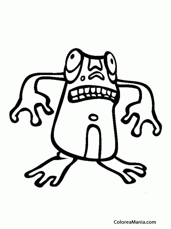 Colorear Miedo Quiere Darte El Sapo Expresión Y Lenguaje Dibujo