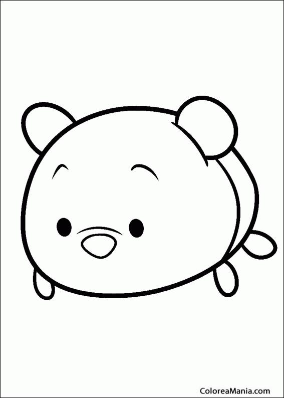 Colorear Winnie The Pooh Tsum Tsum Dibujo Para Colorear