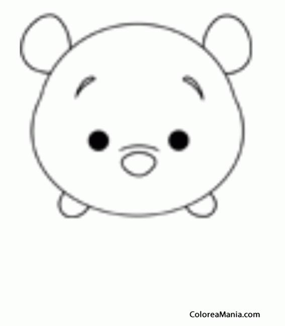 Colorear Winnie The Pooh 02 Tsum Tsum Dibujo Para Colorear Gratis
