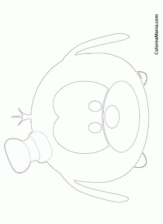Colorear Goofy (Tsum, Tsum), dibujo para colorear gratis