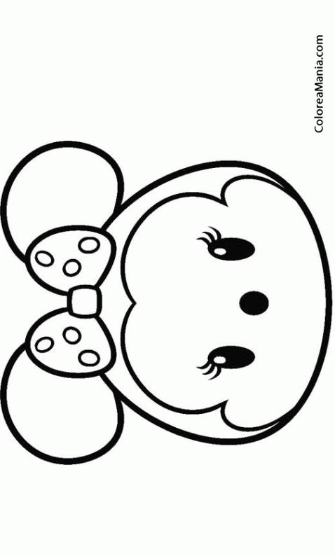 Colorear Minnie 02 Tsum Tsum Dibujo Para Colorear Gratis