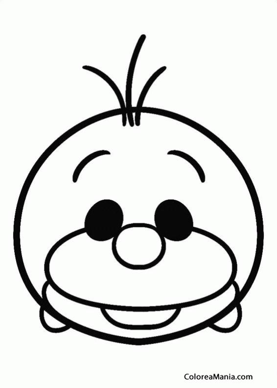 Colorear Olaf Tsum Tsum Tsum Tsum Dibujo Para Colorear