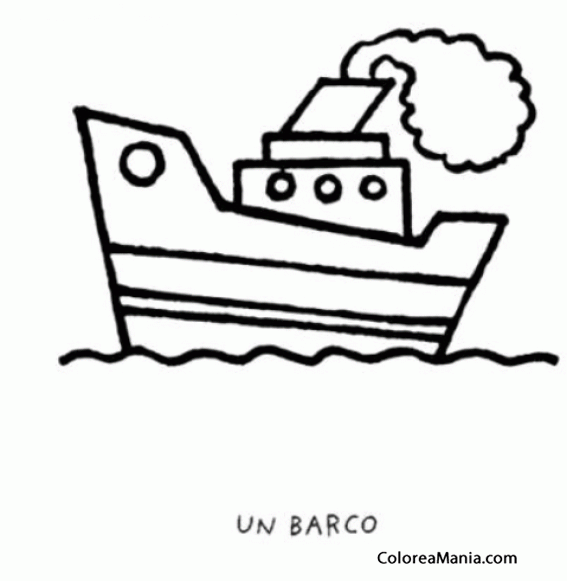 Colorear Barquito Con Humo Barcos Veleros Y Demás Navios Dibujo