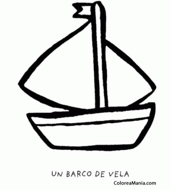 Colorear Barco De Vela Barcos Veleros Y Demás Navios