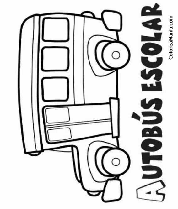 Colorear Autobús escolar (Barcos, Veleros y demás navios), dibujo ...