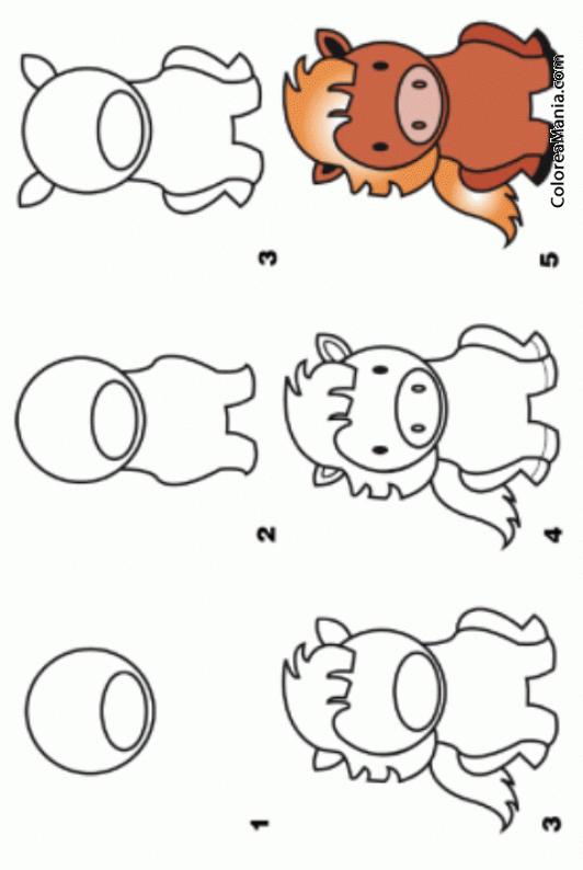 Colorear Como Dibujar Un Pony Cómo Dibujar Animales Dibujo Para
