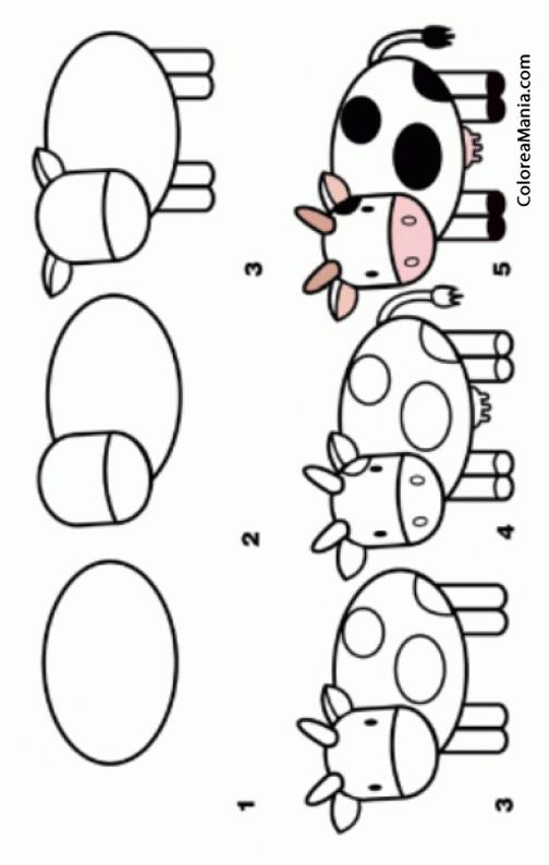 Colorear como dibujar una vaca cmo dibujar animales - Como pintar bien una pared ...