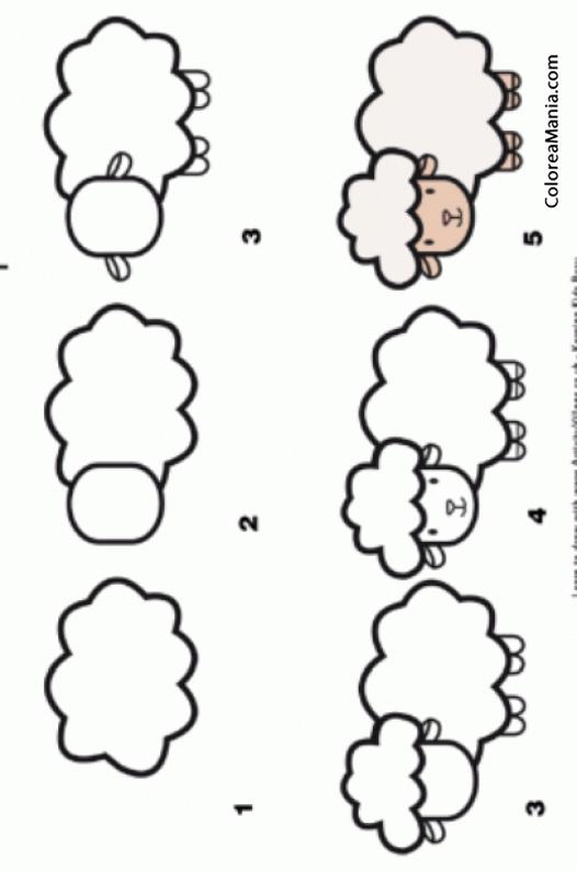Colorear como dibujar una oveja c mo dibujar animales dibujo para colorear gratis - Comment dessiner hello kitty facilement ...