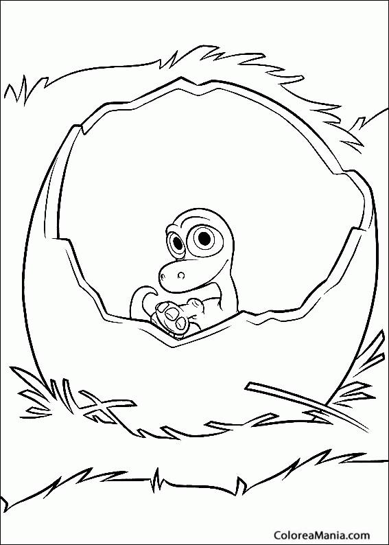 Colorear Arlo sale del huevo (El Viaje de Arlo), dibujo para ...