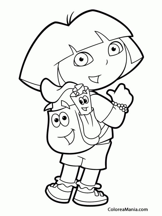 Lujoso Dora Princess Para Colorear Ornamento - Páginas Para Colorear ...