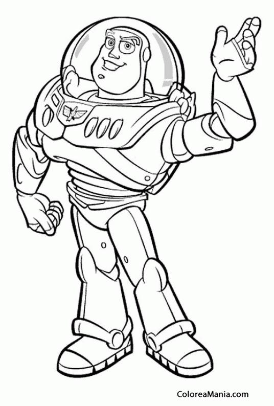 Colorear Buzz Lightyear (Toy Story), dibujo para colorear gratis