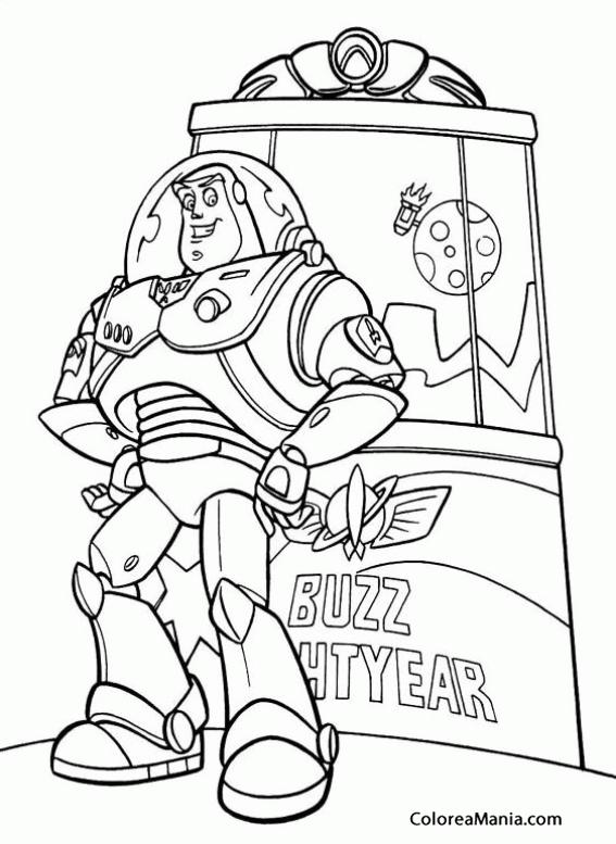 Colorear Buzz Lightyear 2 (Toy Story), dibujo para colorear gratis