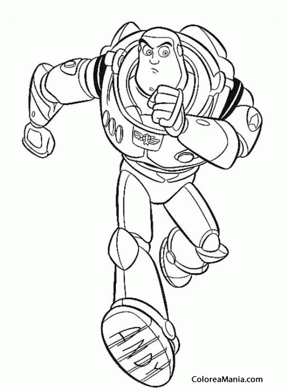 Para Colorear Buzz Lightyear