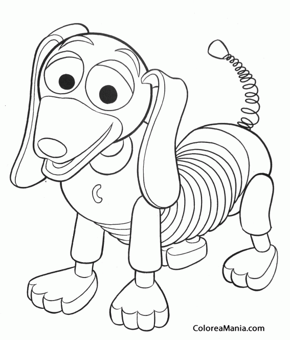 Colorear Slinky Toy Story Dibujo Para Colorear Gratis