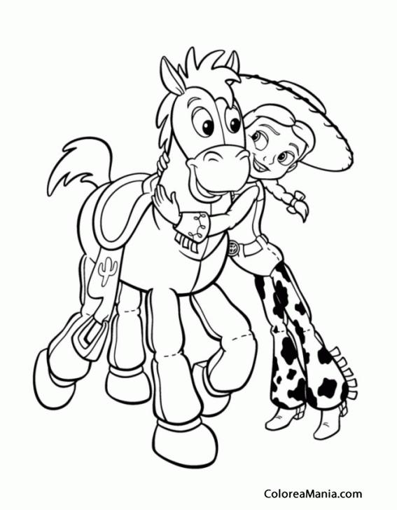 Colorear Jessie Y Perdigón Toy Story Dibujo Para Colorear