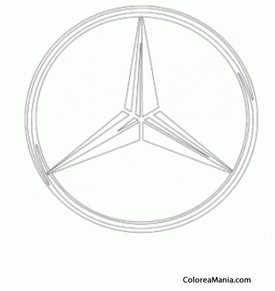 Colorear Mercedes Benz, Estrella (Logos Empresas