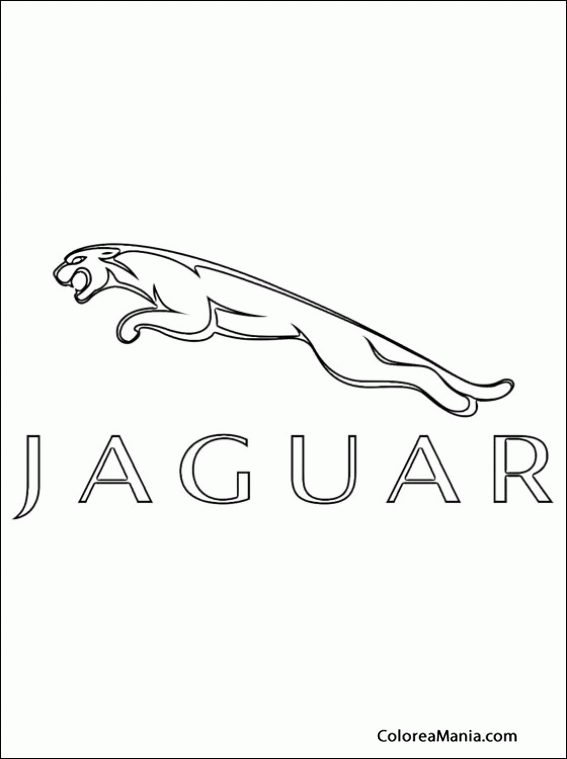 Colorear Jaguar Motors Logos Empresas Automovilísticas Dibujo