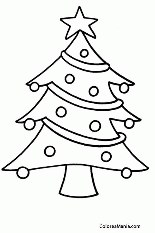 Colorear Árbol de Navidad 4 (Navidad), dibujo para colorear gratis