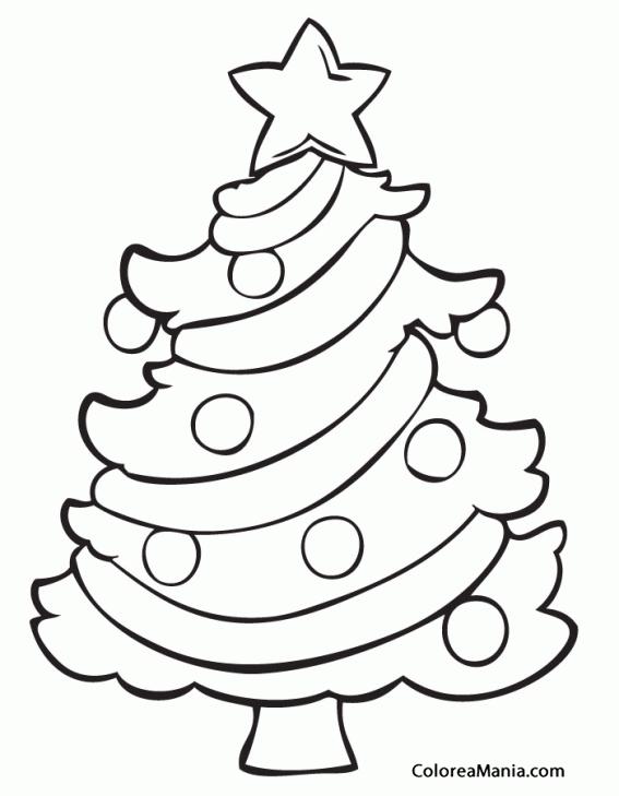 Colorear rbol de Navidad 7 (Navidad), dibujo para colorear ...