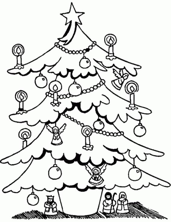 4214068f85a2a ... para imprimir gratis. 276 visitas 0 impresionesImprimir Dibujo. Colorear  Árbol de Navidad con figuritas