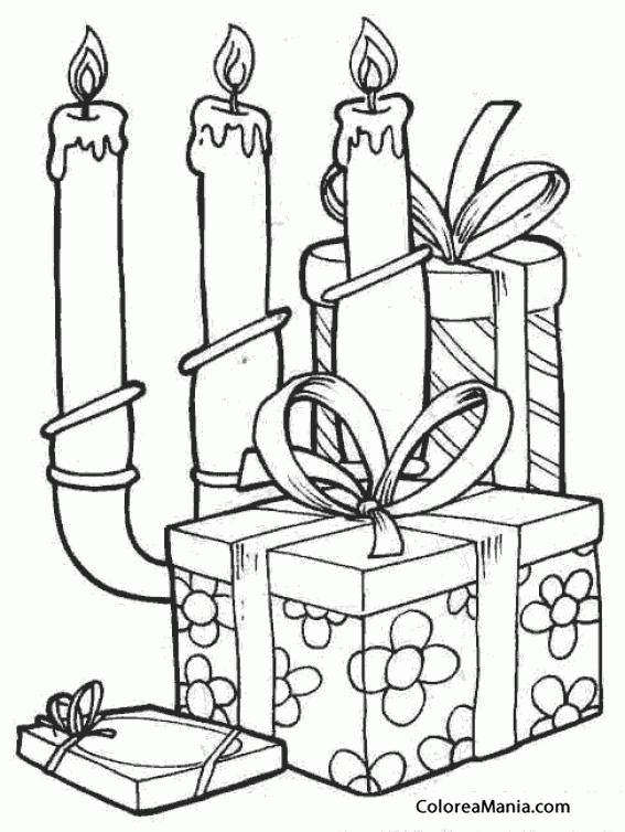 Colorear Regalos (Navidad), dibujo para colorear gratis